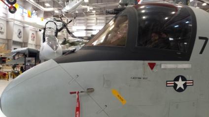 Josh pilots a military plane.