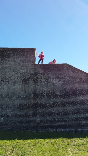 Lookout perch on top of Fort Pickens.