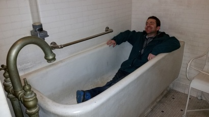 Relaxing in the tub