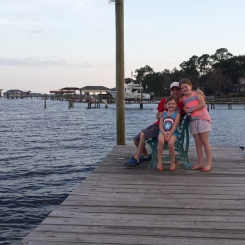 Sittin' on the dock of the bay.