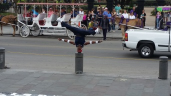 Street Performer Head Spins