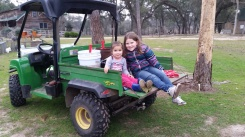 About to ride in the Gator.