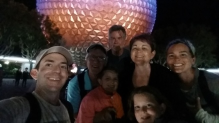 Whole fam at Epcot.