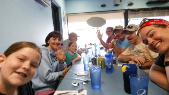 The Whole Gang at The Diner