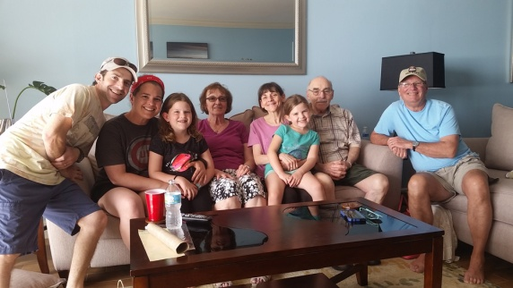 The whole gang at the condo